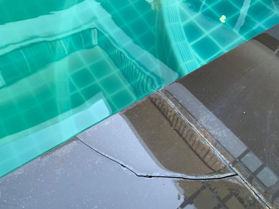 כשל באיטום בטון הבריכה